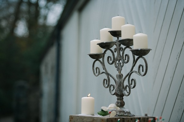 Candles in candelabra