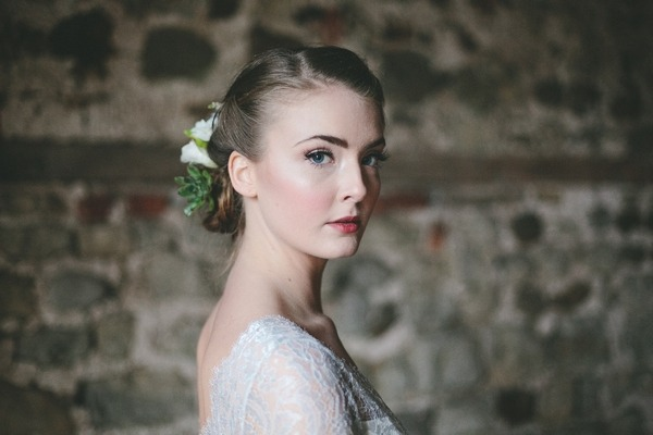 Bride with updo