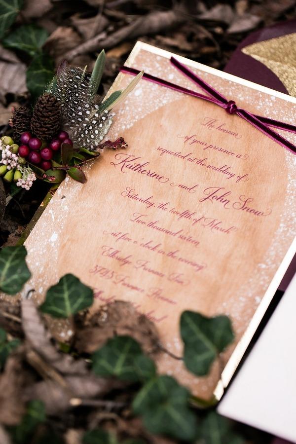 Snow White wedding invitation