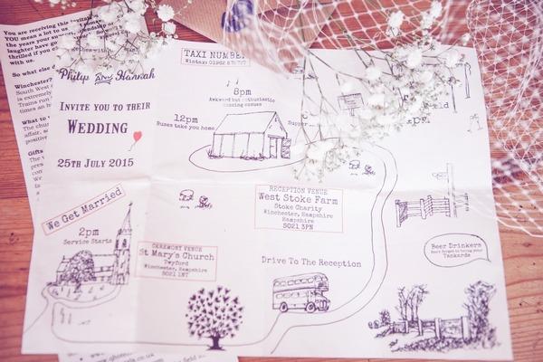 Map wedding invitation