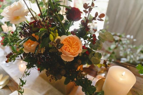 Winter table flowers