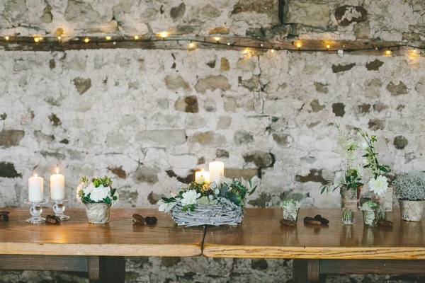 Nordic winter floral table display