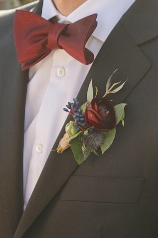 Groom's winter buttonhole