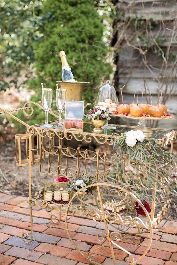Wedding treats cart