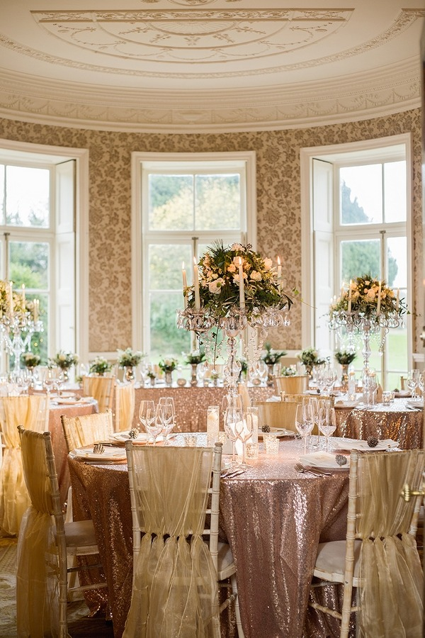 Winter wedding table at Wyck Hill House
