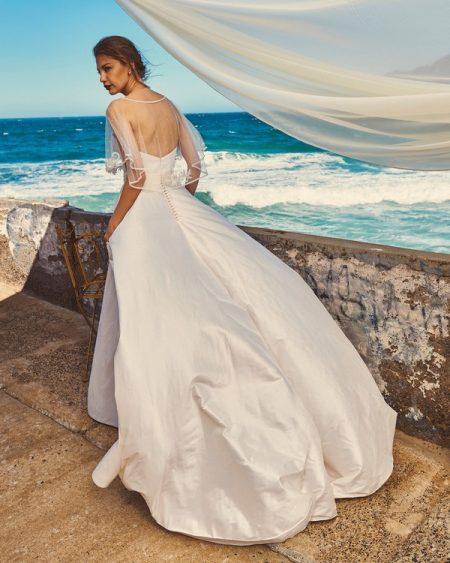 Back of B7417 Chloe Bodice, C7817 Marina Cape and SK4117 Scarlet Skirt - Elbeth Gillis Milk and Honey 2017 Bridal Collection