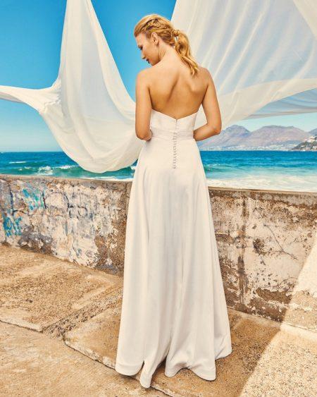 Back of B7417 Chloe Bodice and SK7517 Harper Skirt - Elbeth Gillis Milk and Honey 2017 Bridal Collection