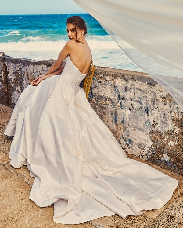 Back of B7417 Chloe Bodice and SK4117 Scarlet Skirt - Elbeth Gillis Milk and Honey 2017 Bridal Collection