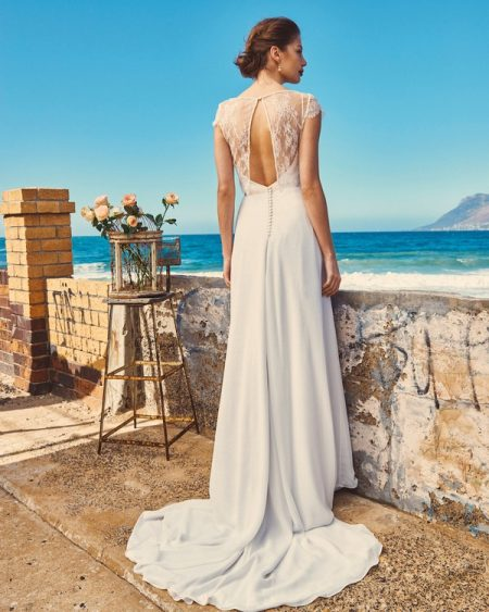 Back of Linda, Shelby and Michelle - Elbeth Gillis Milk and Honey 2017 Bridal Collection