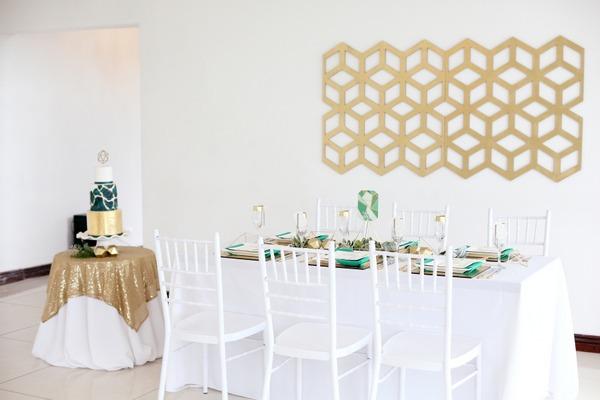 Wedding and cake table