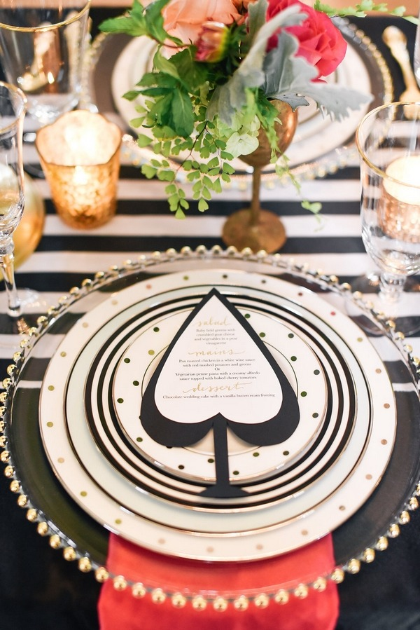 Spade on wedding place setting