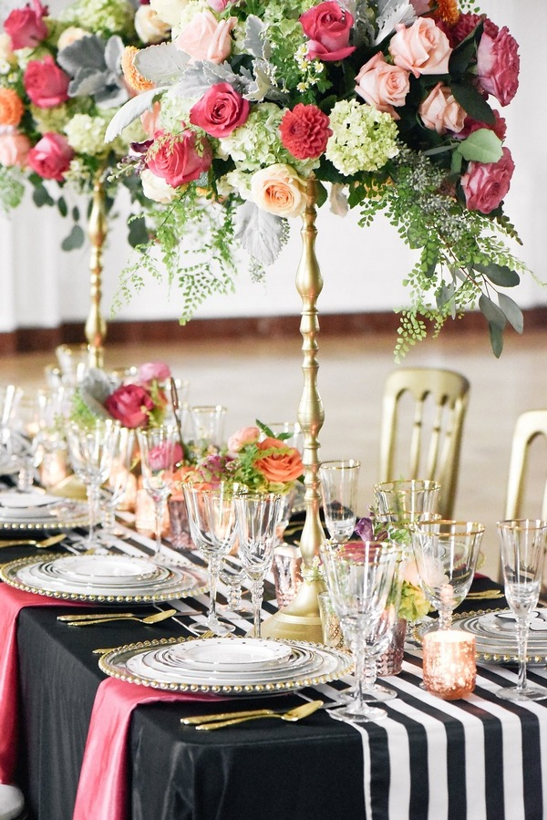 Tall floral table centrepieces
