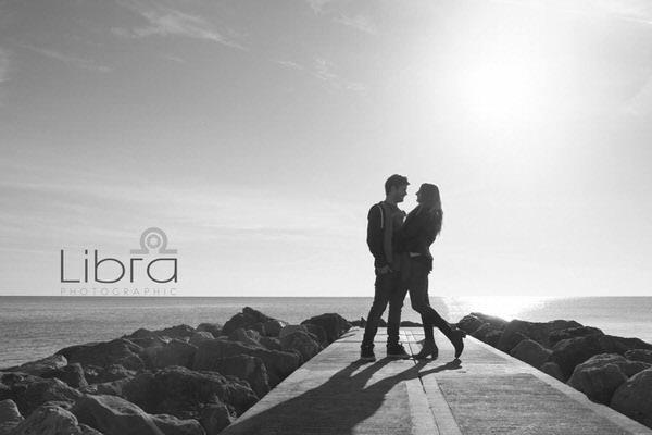 Couple on path at Branksome Beach
