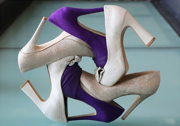 Bridal shoes joined together to make pattern - Picture by Gardner Hamilton