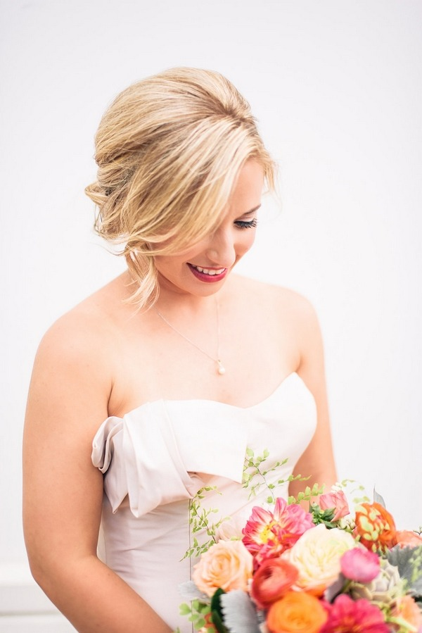 Bride with bridal updo