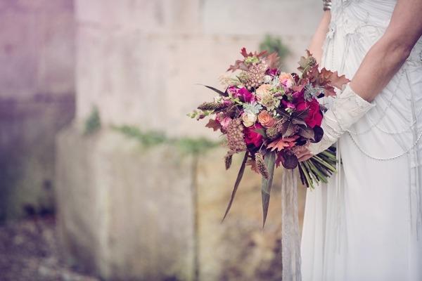 Bouquet in bride's hands