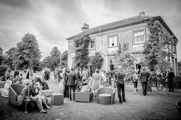 Sparkford Hall wedding reception drinks