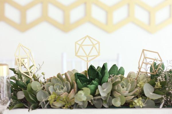 Succulents table centrepiece