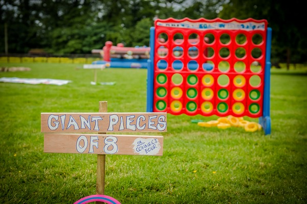 Giant connect 4 festival wedding game