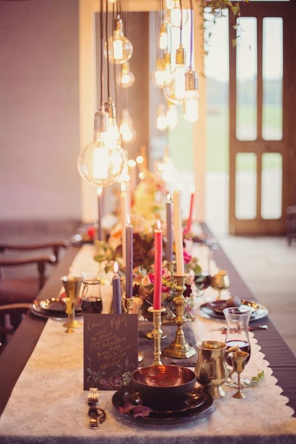 Viking wedding table styling