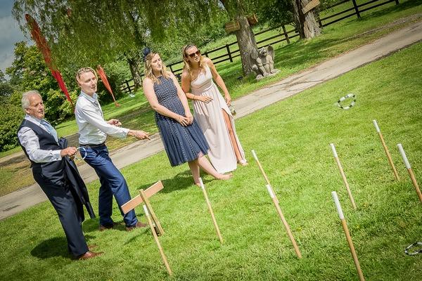 Ring toss festival wedding game