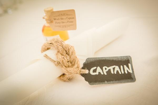 Captain wedding tag