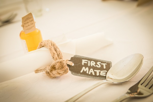 First mate wedding tag