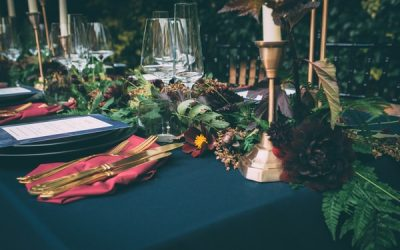 Moody Hues Wedding Styling