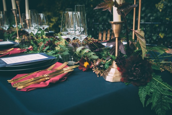 Wedding table styling details