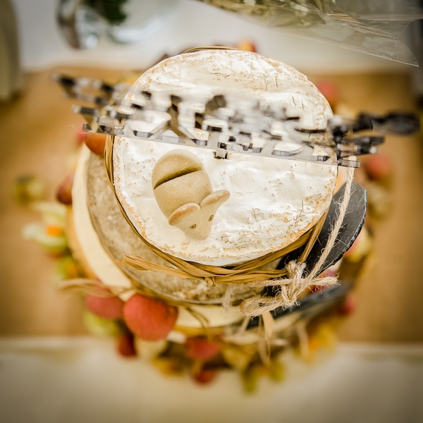 Cheese stack mouse cake topper