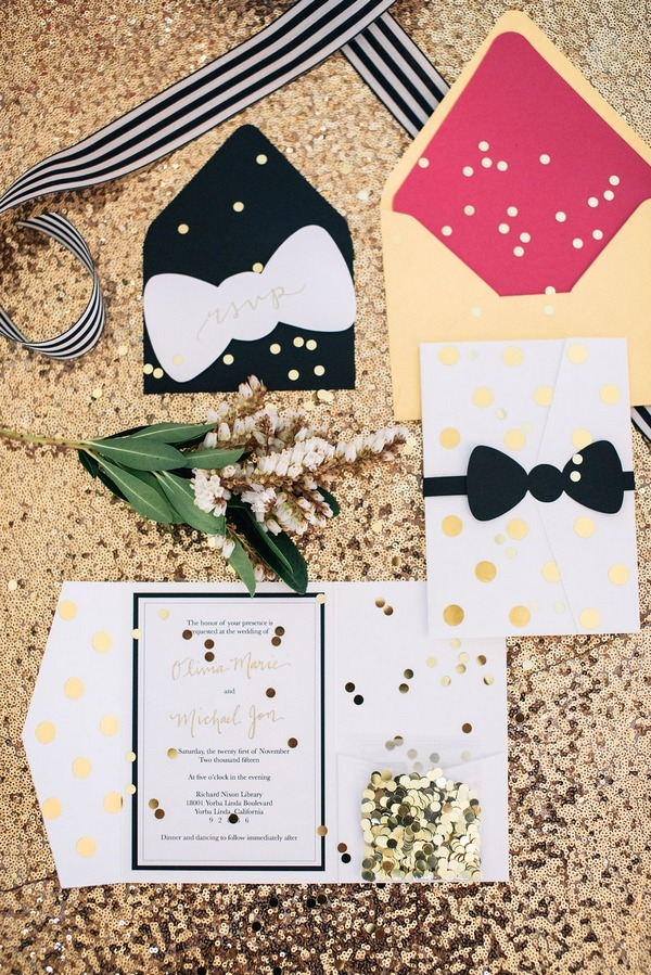 Kate Spade wedding stationery