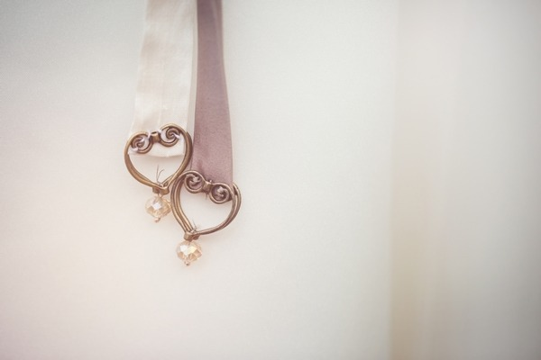Hearts on end of ribbon