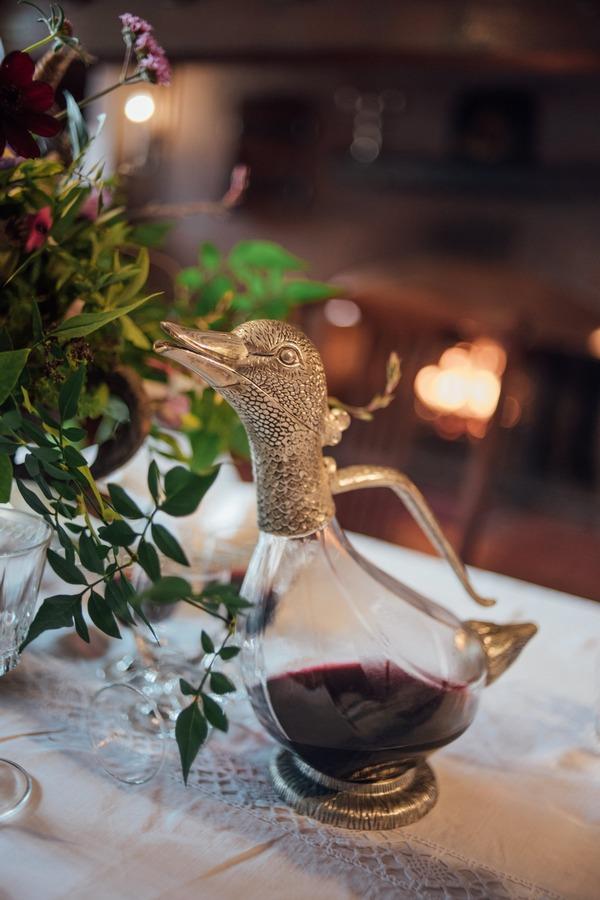 Duck wine carafe