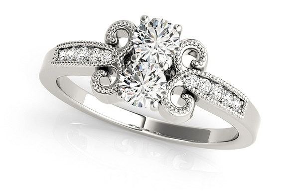 Art Deco Diamond alternative engagement ring
