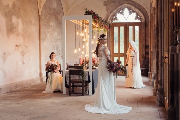Three brides in Lowther Castle for Modern Viking Wedding Inspiration shoot