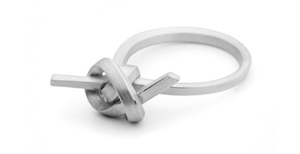 Forget Me Knot alternative engagement ring