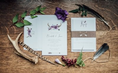 Feathers and Foraging Wedding Styling