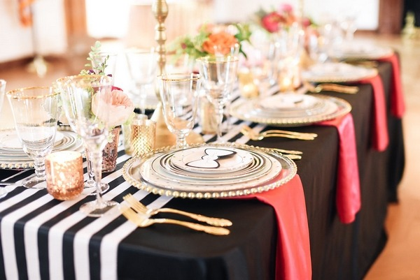 Kate Spade styled wedding table