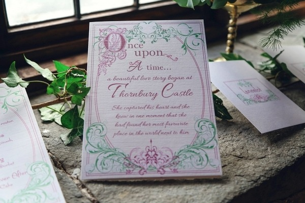 Once Upon a Time wedding stationery