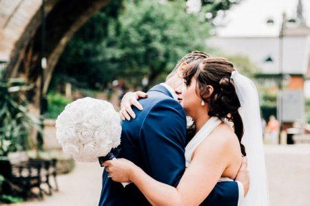 Emotional bride hugging groom - Picture by Jamiri Photography