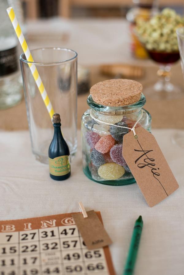 Sweet jar wedding favour