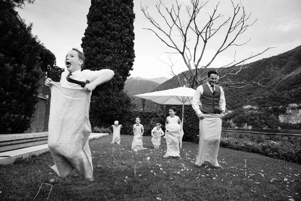 Wedding sack race - Picture by Libra Photographic