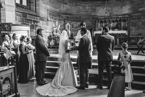 Wedding ceremony in Priory Church of St. Mary and Tutbury