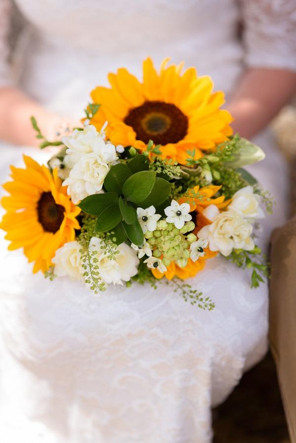 Bride's sunflower bridal bouquet
