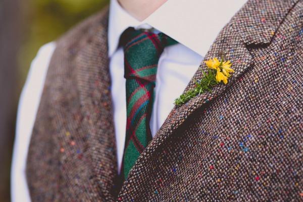 Gorse flower buttonhole