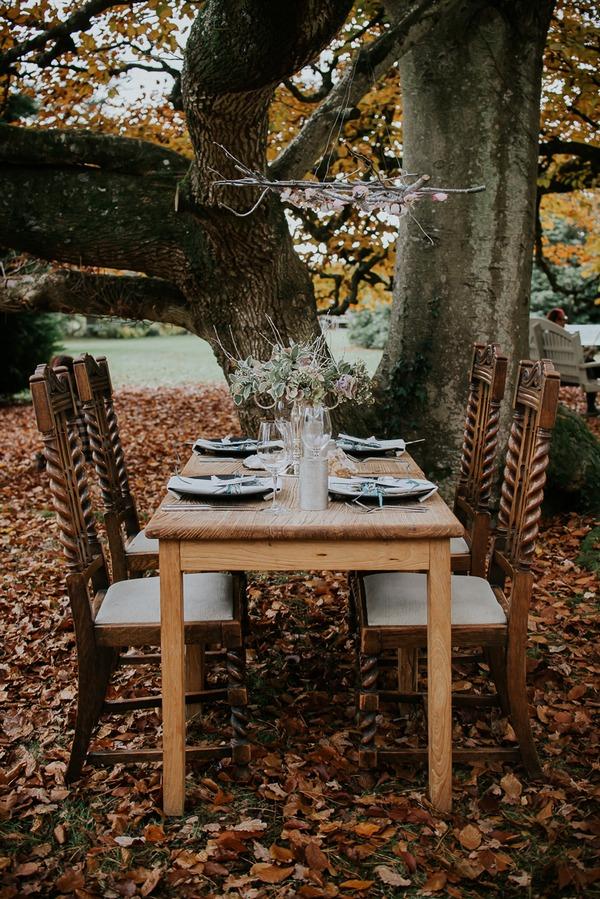 Small wedding table outside