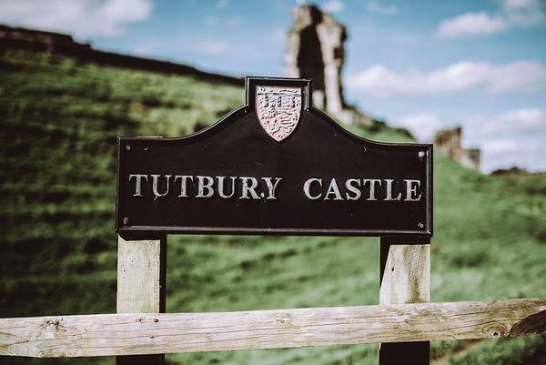 Tutbury castle sign