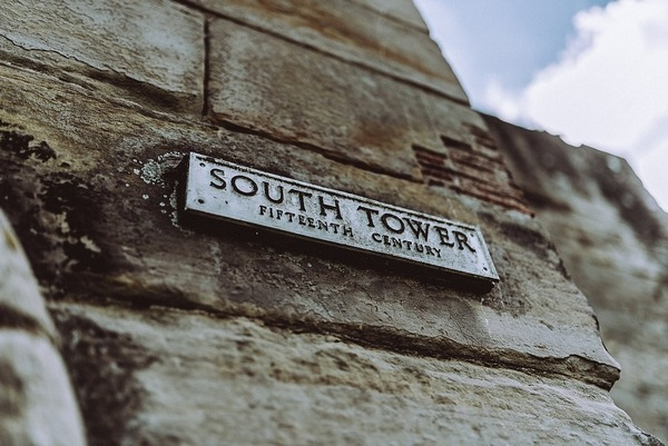 South Tower sign at Tutbury Castle
