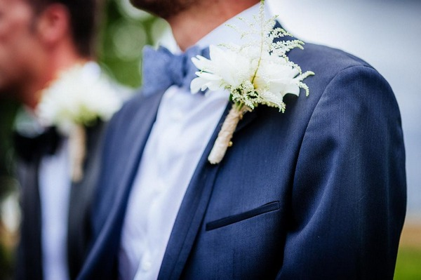 Large white buttonhole
