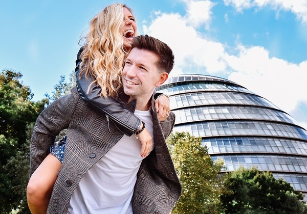 Man giving woman piggyback - Picture by Emma-Jane Photography